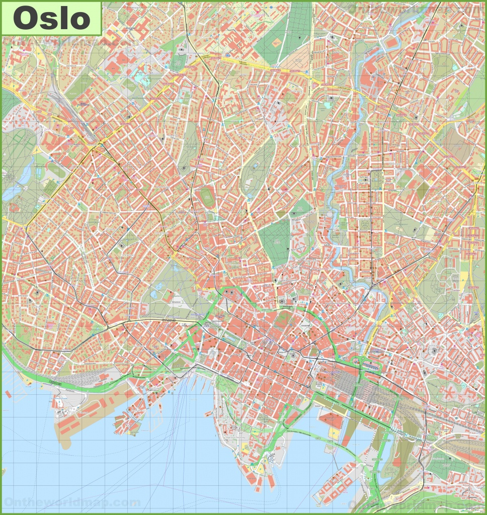 Detailed Map Of Oslo - Printable Map Of Oslo Norway