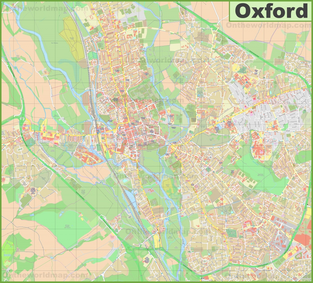 Detailed Map Of Oxford - Printable Map Of Oxford