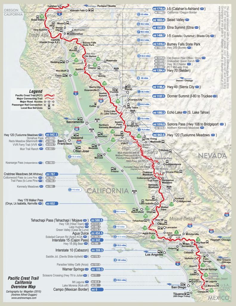 Detailed Pct Maps – Derek & Caitlin's 2015 Pacific Crest Trail Hike - Pct Map California