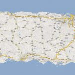 Detailed Road Map Of Puerto Rico With Cities. Puerto Rico Detailed   Printable Map Of Puerto Rico
