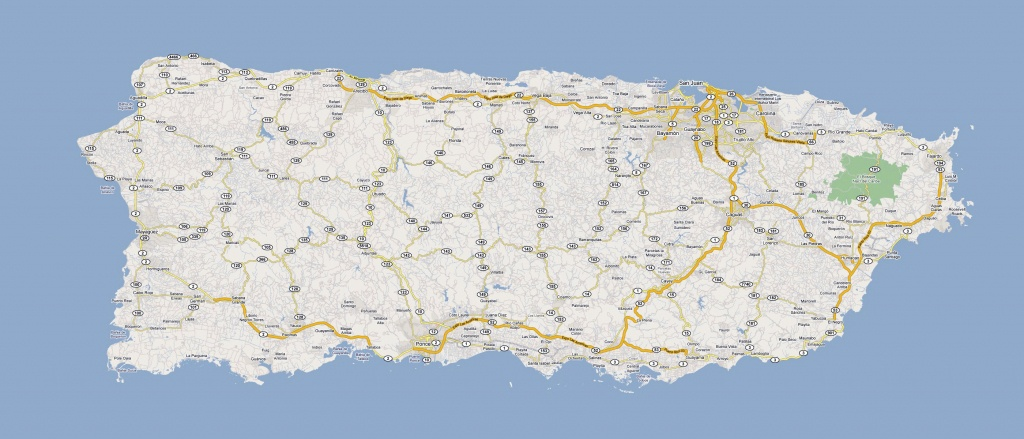 Detailed Road Map Of Puerto Rico With Cities. Puerto Rico Detailed - Printable Map Of Puerto Rico