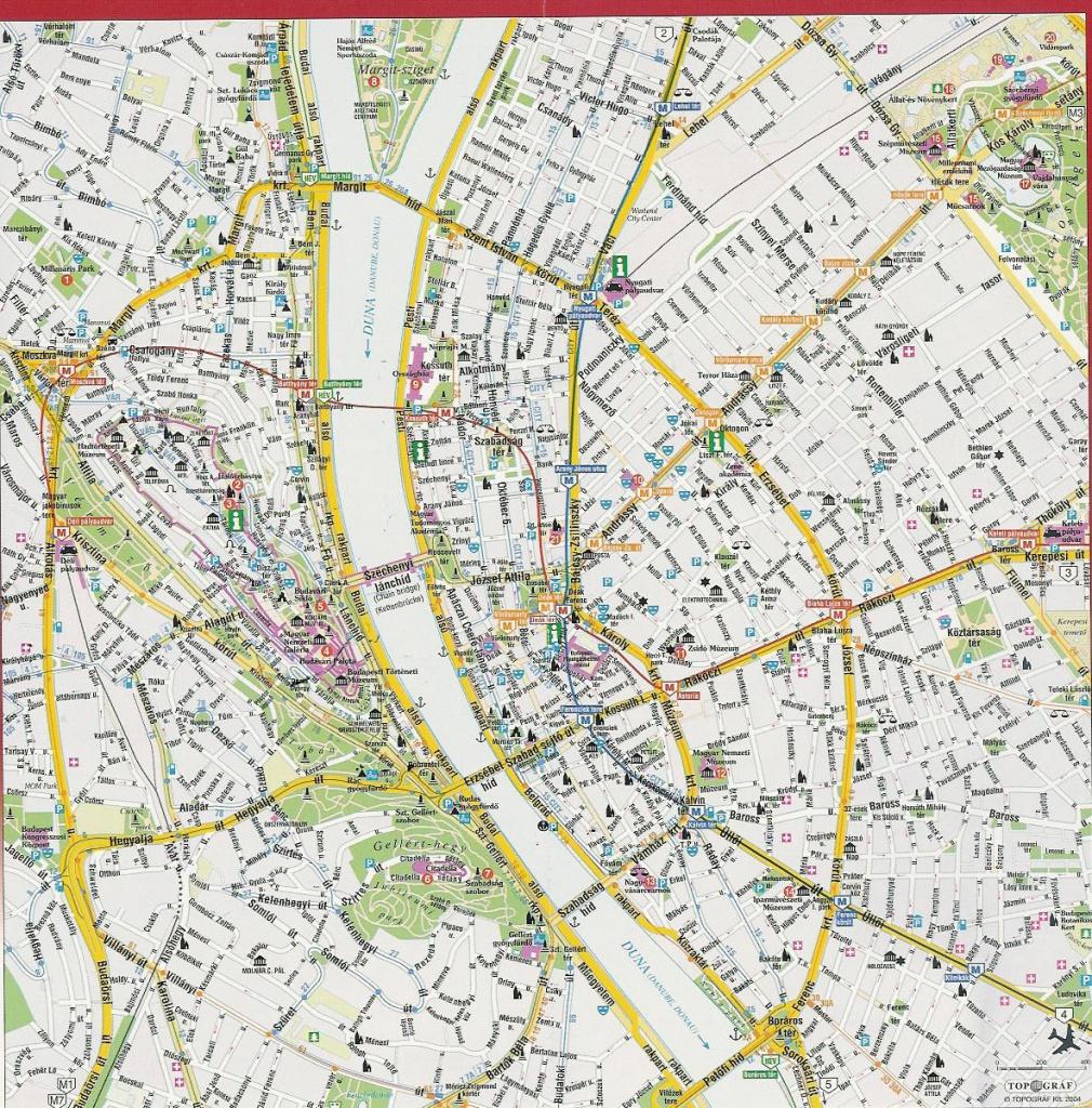 Detailed Street Map Of Budapest City Center. Budapest City Center - Budapest Street Map Printable