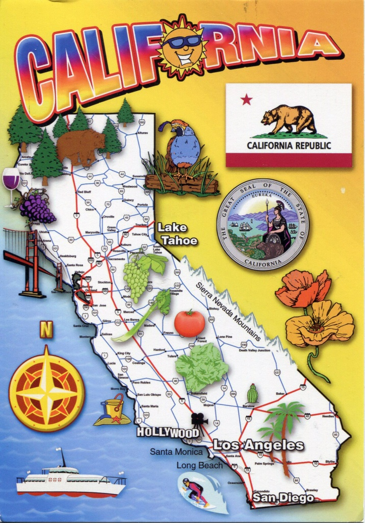 Detailed Tourist Map Of California State. California State Detailed - California Tourist Map