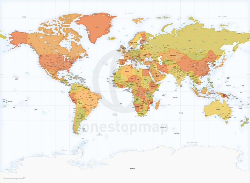 Detailed World Map Miller Europe-Africa | One Stop Map - World Map With Capitals Printable