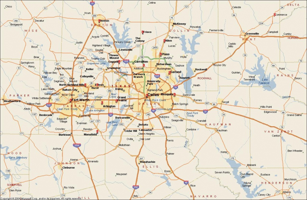 Dfw Metroplex Map - Dallas Fort Worth Metroplex Map (Texas - Usa) - Printable Map Of Dallas Fort Worth Metroplex