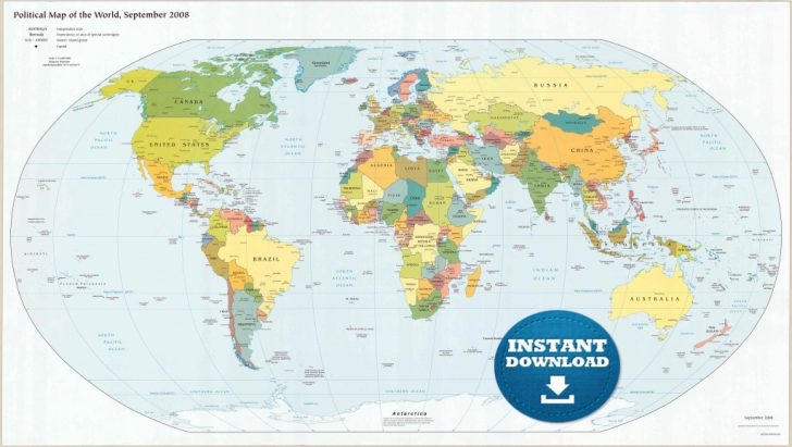 image regarding Printable World Map With Countries called enormous printable entire world map with international locations No cost Printable