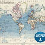 Digital Old World Map Printable Download. Vintage World Map.   Etsy - Vintage World Map Printable