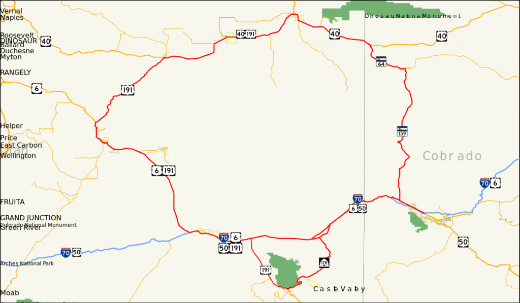Dinosaur Diamond Scenic Byway - Wikipedia - Scenic Byways California Map