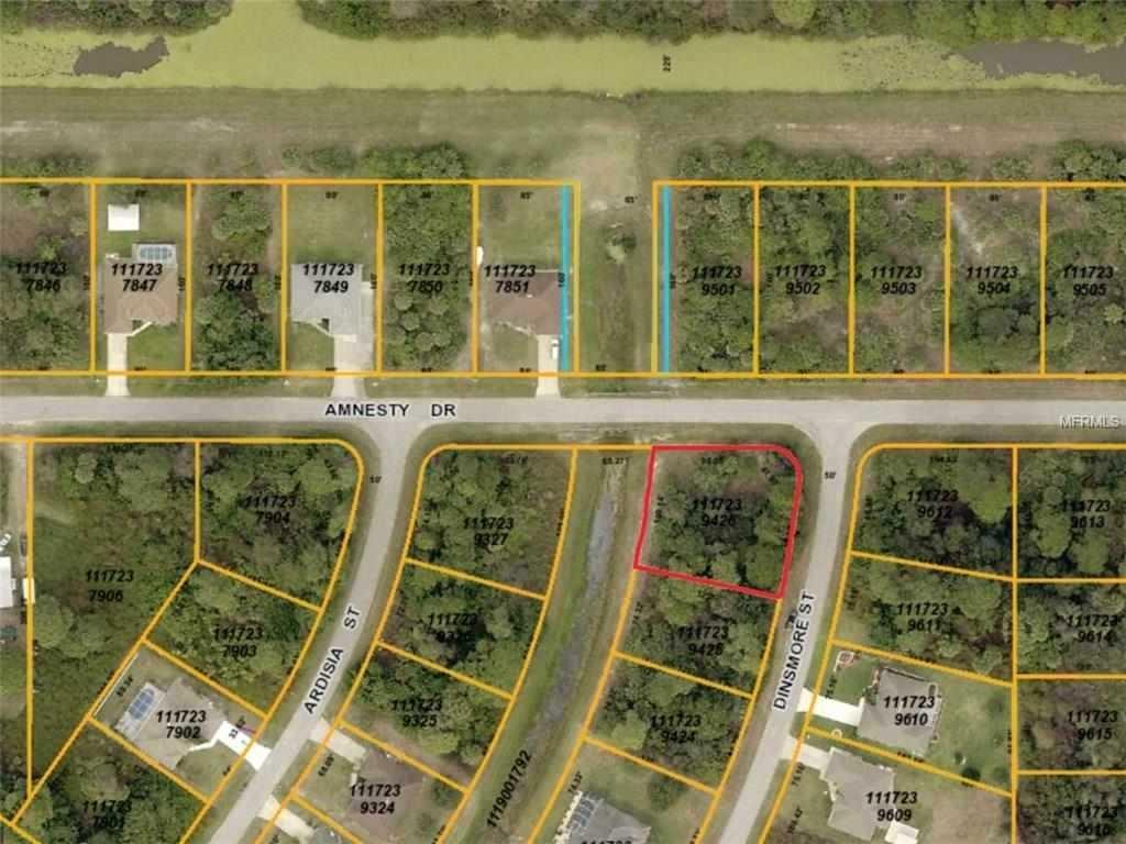 Dinsmore Street34288 - North Portnorth Portoversized Corner Ready - North Port Florida Street Map