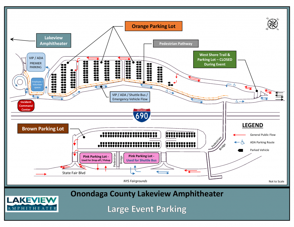 Directions And Parking - St. Joseph's Health Amphitheater At - Mid Florida Amphitheater Parking Map