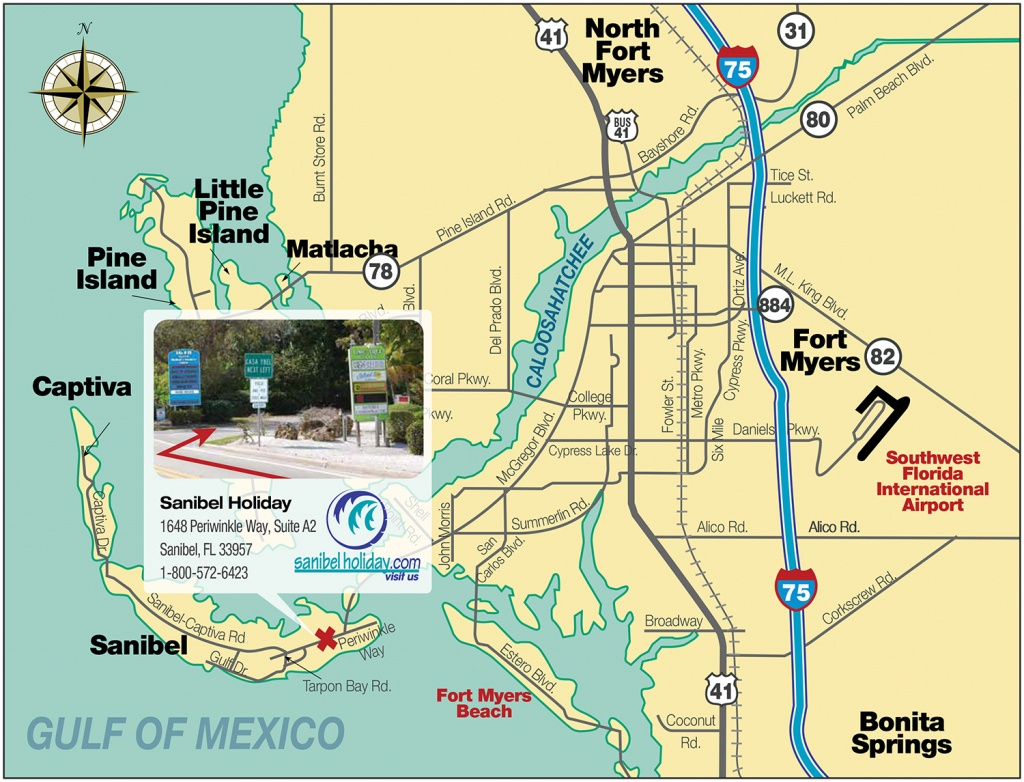Directions To Sanibel Island | Sanibel Holiday - Sanibel Island Florida Map