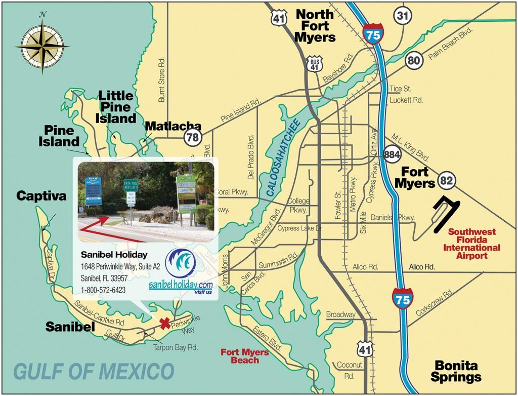 Directions To Sanibel Island   Sanibel Holiday - Where Is Sanibel Island In Florida Map