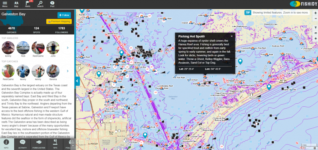 Discover Fishing Hot Spots On Galveston Bay! | Texas Fishing Spots - Texas Offshore Fishing Maps