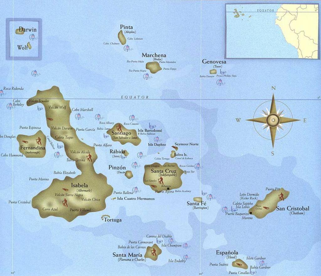 Discover Galapagos - Galapagos Islands Map - Printable Map Of Galapagos Islands