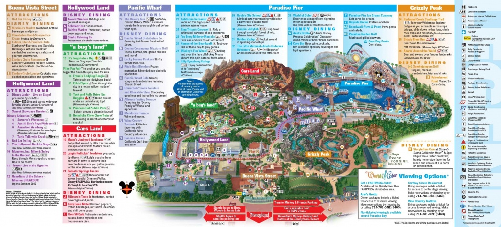 Disney California Adventure Map Map With Image California Adventure - California Adventure Map Pdf