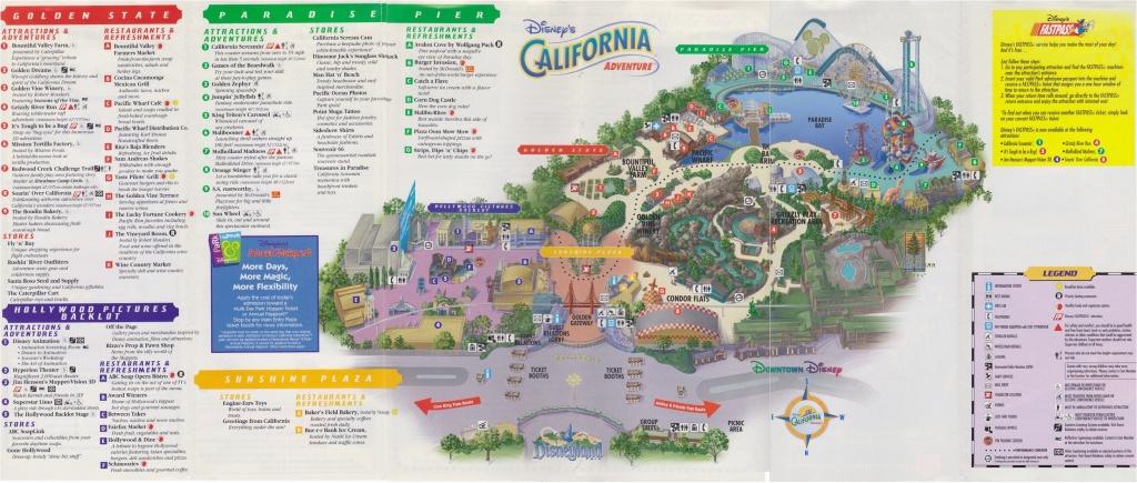 Disney California Adventure Map Pdf   Secretmuseum - Printable California Adventure Map