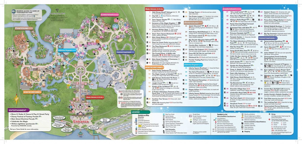 Disney-Magic-Kingdom-Map In 2019 | Virtual Magic Kingdom | Disney - Disney World Map 2017 Printable