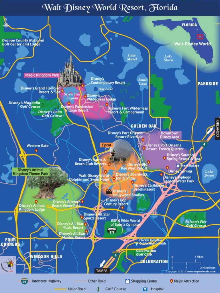 Disney World Map - Disney World Florida Theme Park Maps