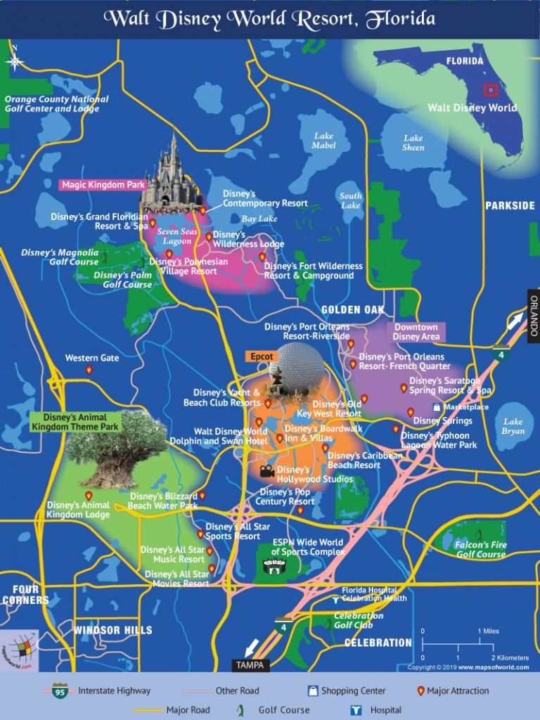 Disney World Map (November 22Nd, 2018) - Disney World Florida Map 2018