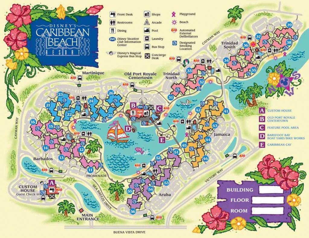 Disney World Maps For Each Resort - Disney World Florida Resort Map