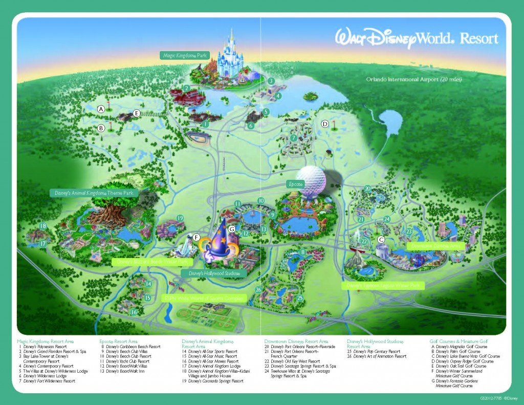 Disney World Resort Map - 2019 Tpe Community Conference2019 Tpe - Printable Disney Park Maps