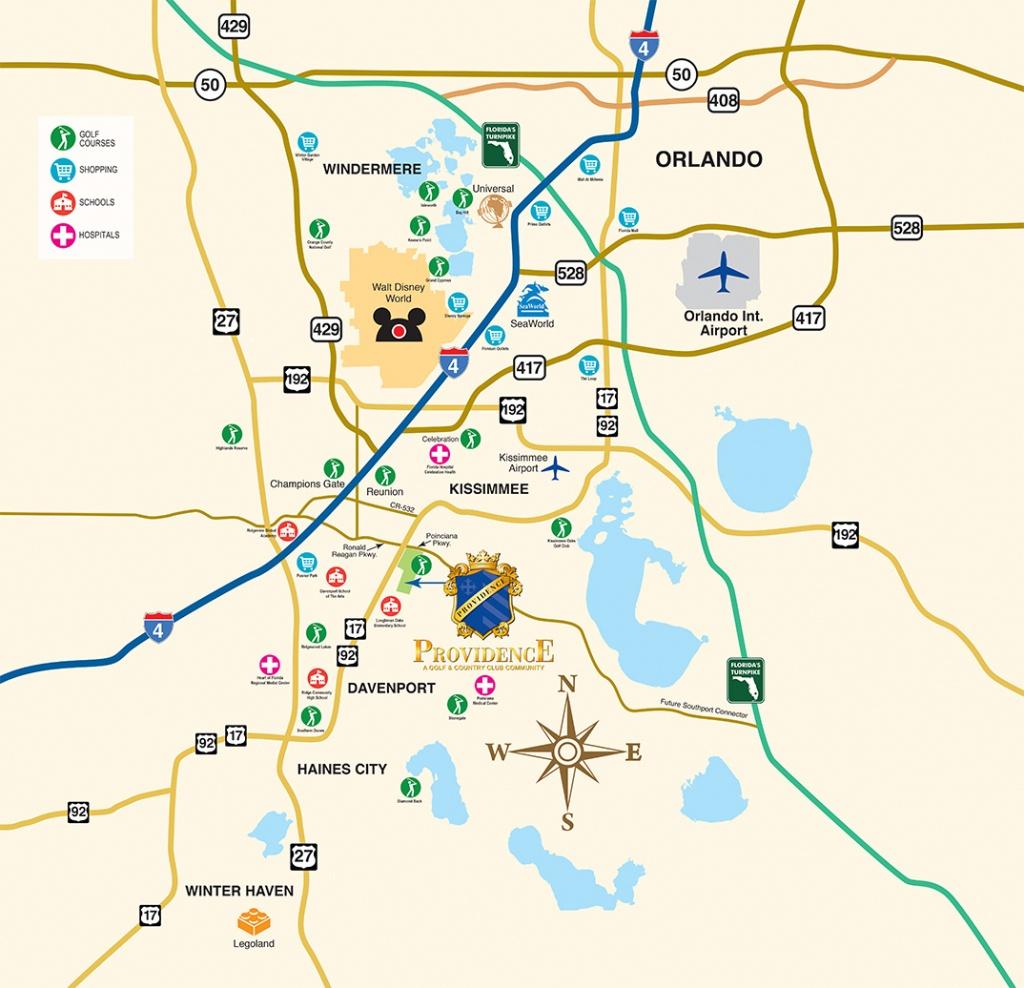 Disney World Vacation Community - New Homes Near Orlando - Orlando Florida Location On Map