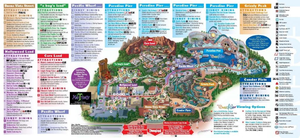 Disneyland California Adventure Park Map   Park Maps Disneyland Park - Printable California Adventure Map