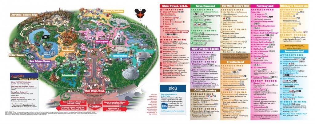 Disneyland Park Map In California, Map Of Disneyland - Disneyland Map 2018 California