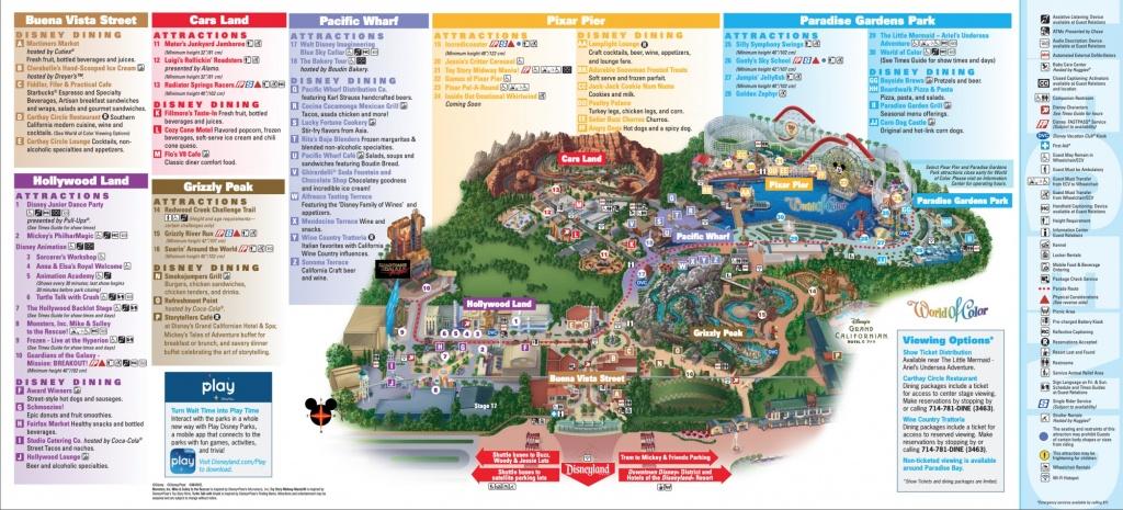 Disneyland Park Map In California, Map Of Disneyland - Printable California Adventure Map