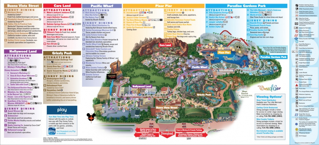 Disneyland Park Map In California, Map Of Disneyland - Southern California Amusement Parks Map
