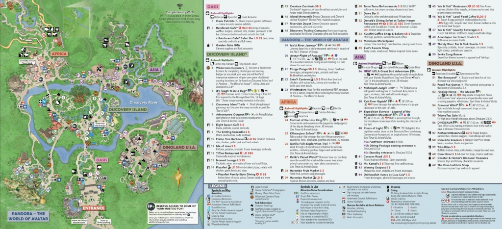 Disney's Animal Kingdom Map Theme Park Map - Animal Kingdom Florida Map