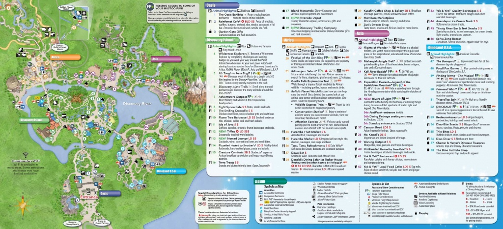 Disney's Animal Kingdom Map Theme Park Map | Disney Trip ✈ June - Disney World Florida Map 2018