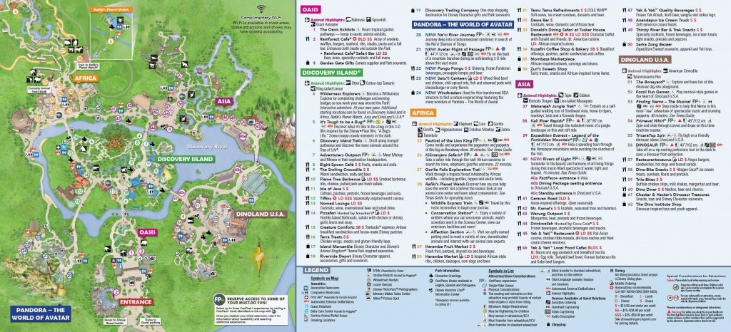 Disney's Animal Kingdom Map Theme Park Map | Disney's Animal Kingdom - Disney World Florida Theme Park Maps