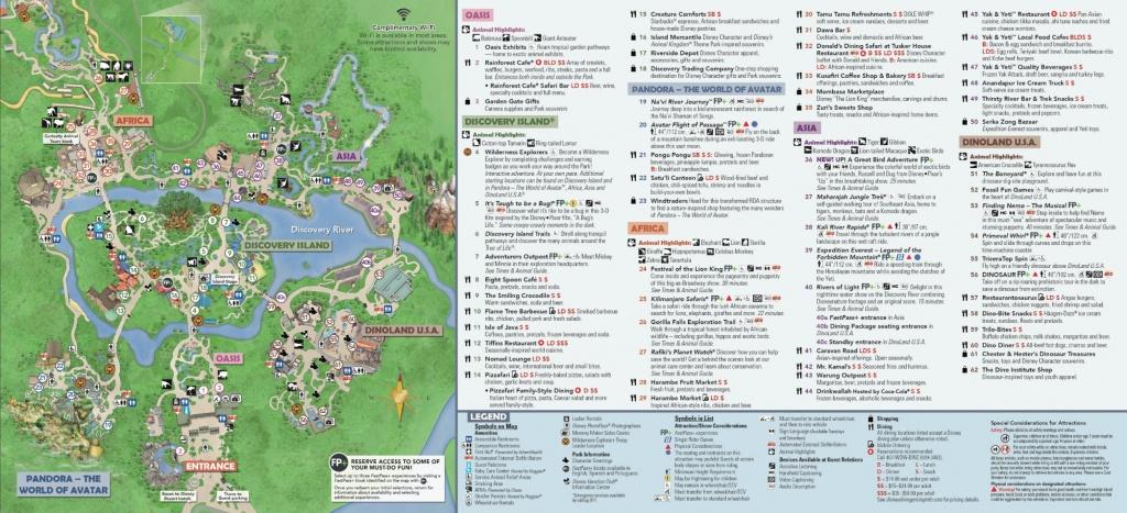 Disney's Animal Kingdom Map Theme Park Map - Maps Of Disney World Printable