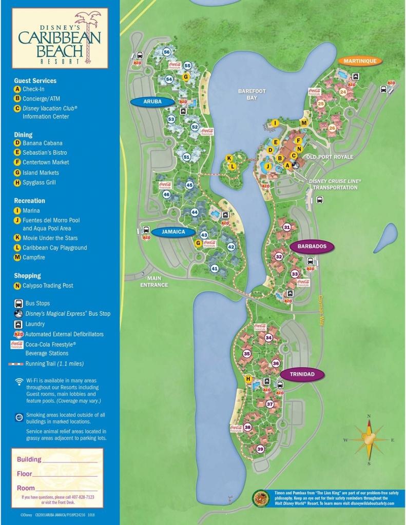 Disney's Caribbean Beach Resort Map | Florida In 2019 | Caribbean - Map Of Florida Beach Resorts