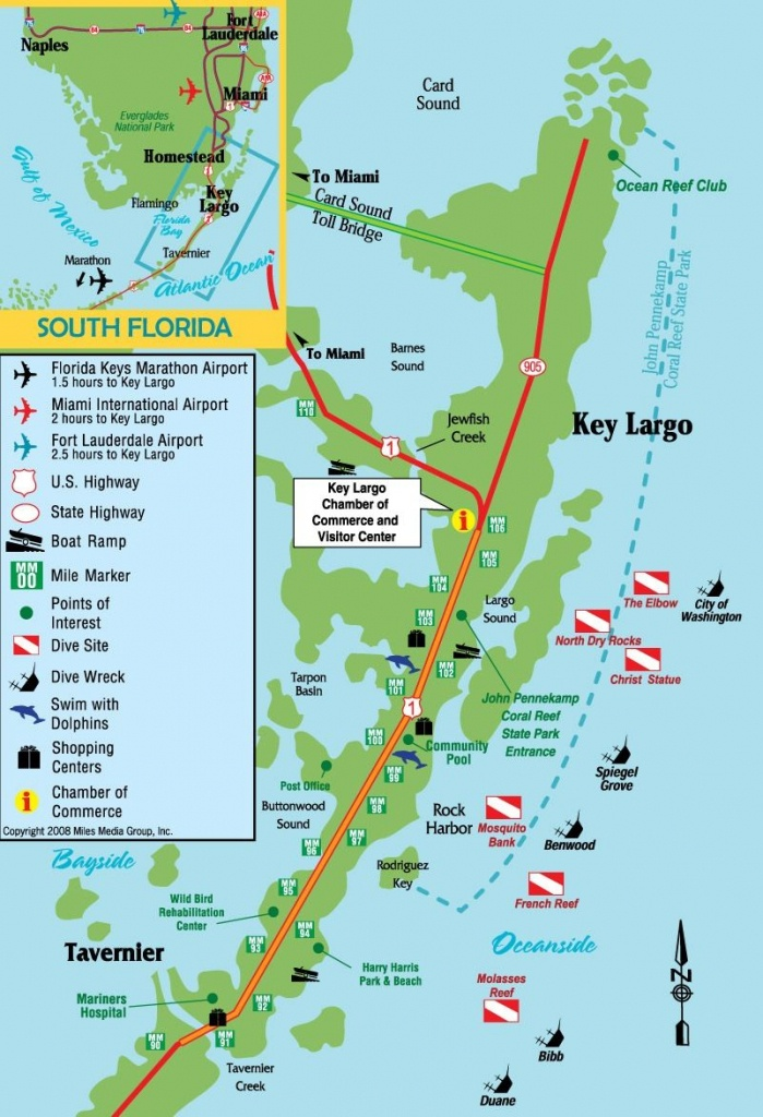 Dives Sites Key Largo, Florida | Diving Destinations | Floride - Show Me A Map Of The Florida Keys