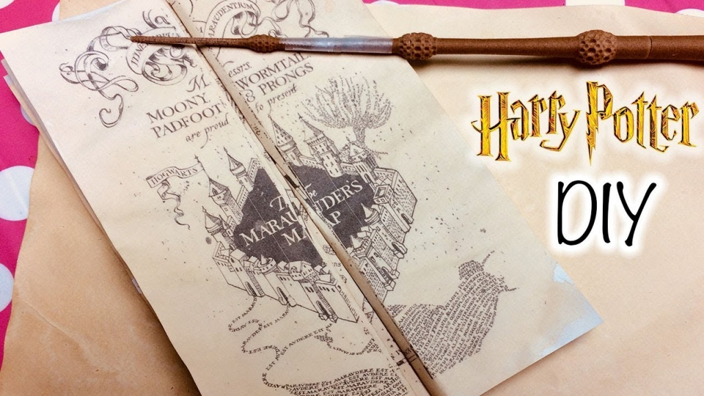 Diy Harry Potter Marauder's Map Printable And Parchment Easy Diy Paper! How  To Make Marauder's Map - Marauder's Map Replica Printable