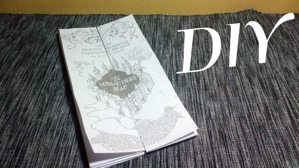 Diy – The Marauders Map | Harry Potter - Youtube - Harry Potter Map Marauders Free Printable