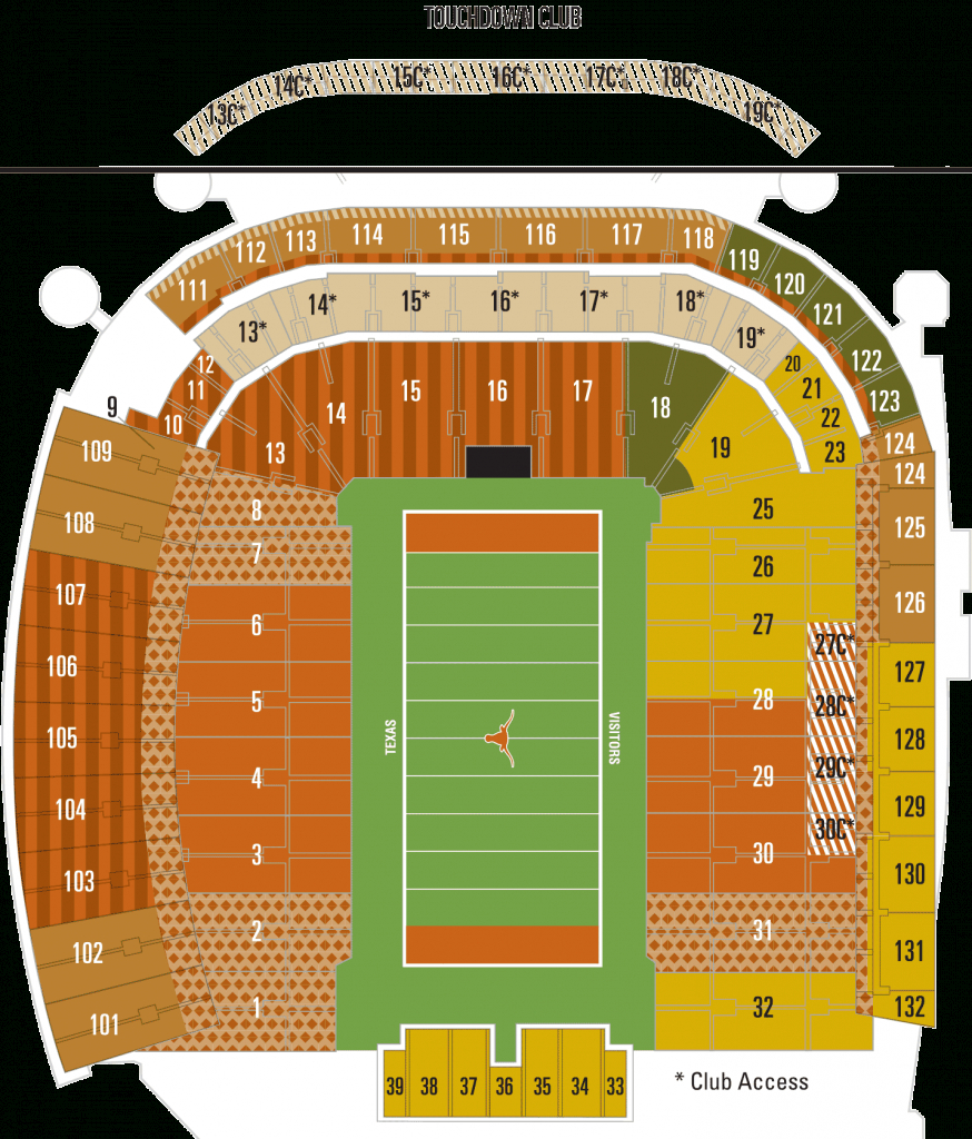 Dkr Seating Chart U T Football Stadium Anta Expocoaching Co Vdih0Zb - University Of Texas Football Stadium Map