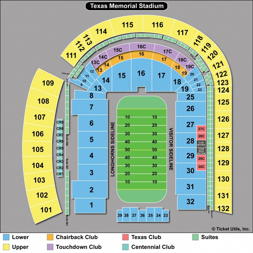 Dkr Stadium Map | Area Code Map - University Of Texas Stadium Seating Map