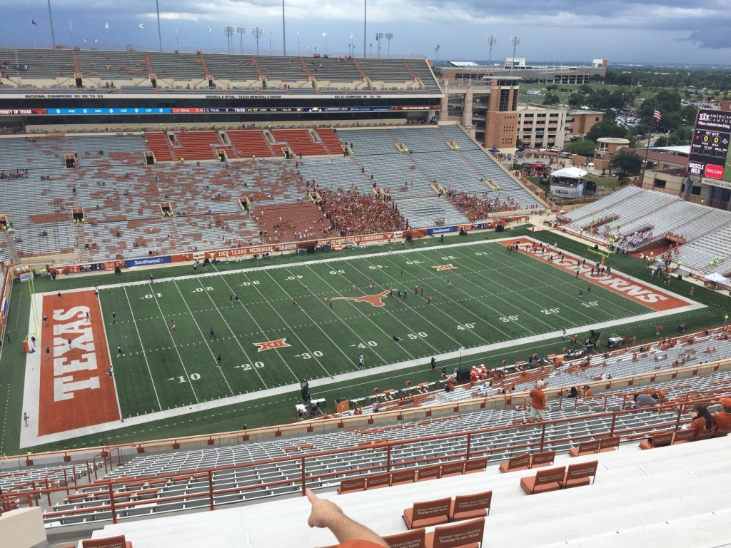 Dkr-Texas Memorial Stadium Section 107 - Rateyourseats - Texas Longhorn Stadium Seating Map