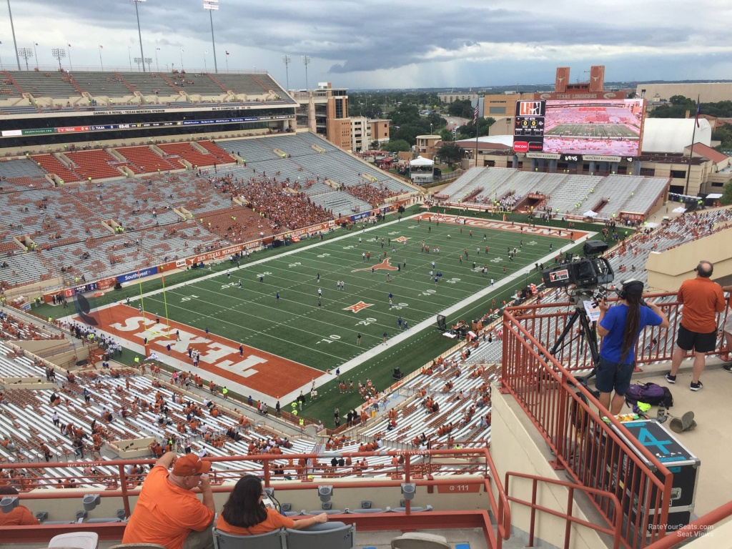 Dkr-Texas Memorial Stadium Section 111 - Rateyourseats - Texas Longhorn Stadium Seating Map