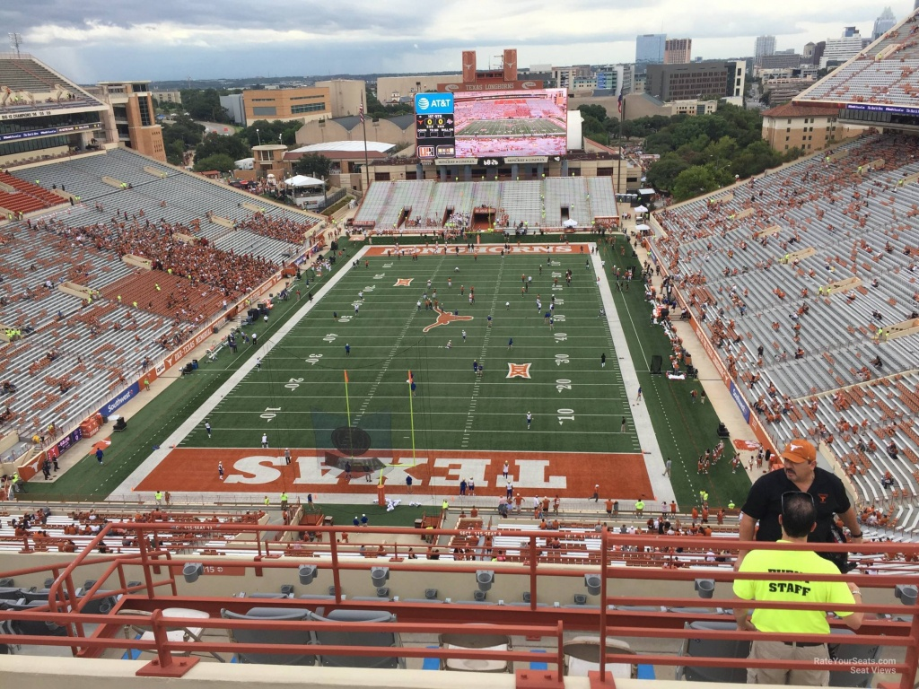 Dkr-Texas Memorial Stadium Section 115 - Rateyourseats - Texas Longhorn Stadium Seating Map