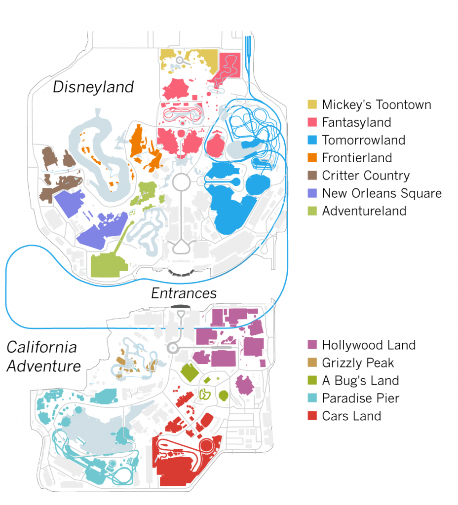 Don't Waste Your Time At Disneyland. Here's How To Avoid The Lines - California Adventure Map 2017