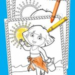 Dora Summertime Coloring Pack | Coloring Pages | Color, Toddler Fun   Dora Map Printable
