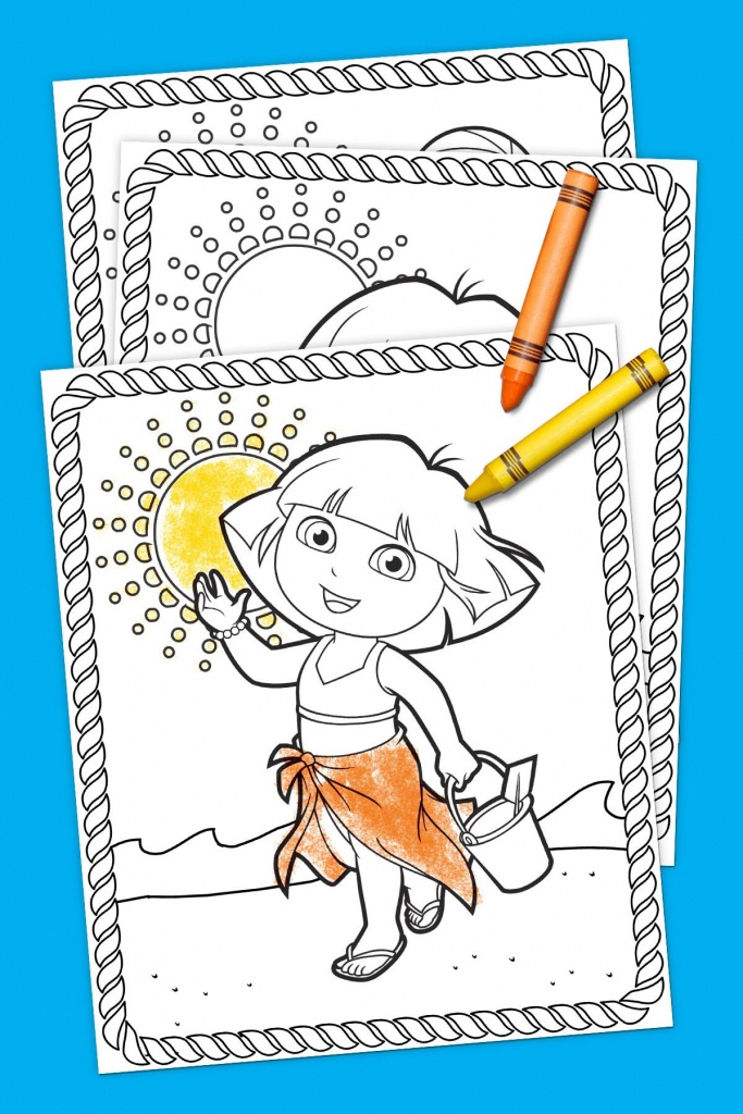 Dora Summertime Coloring Pack | Coloring Pages | Color, Toddler Fun - Dora Map Printable