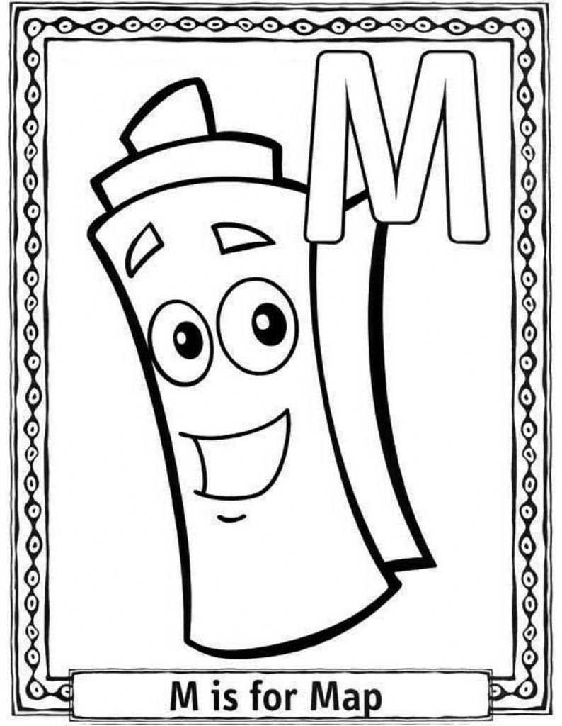 Dora The Explorer Map Coloring Pages - Coloring Home - Dora The Explorer Map Printable