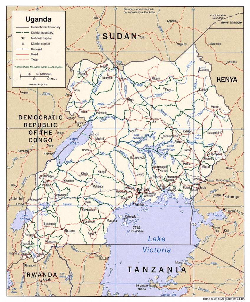 Download Free Uganda Maps - Printable Map Of Uganda