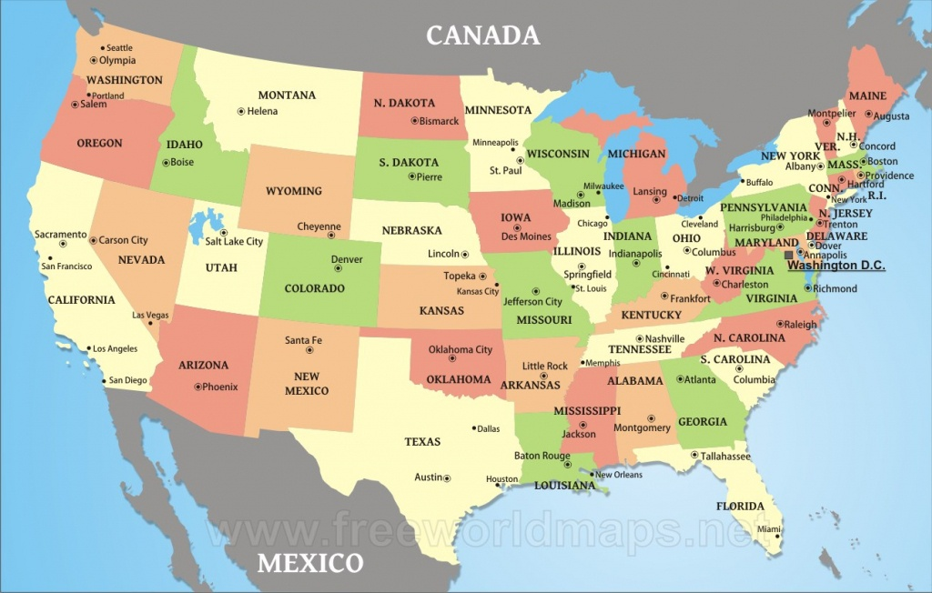 Download Free Us Maps - Printable Map Of Usa With States And Cities