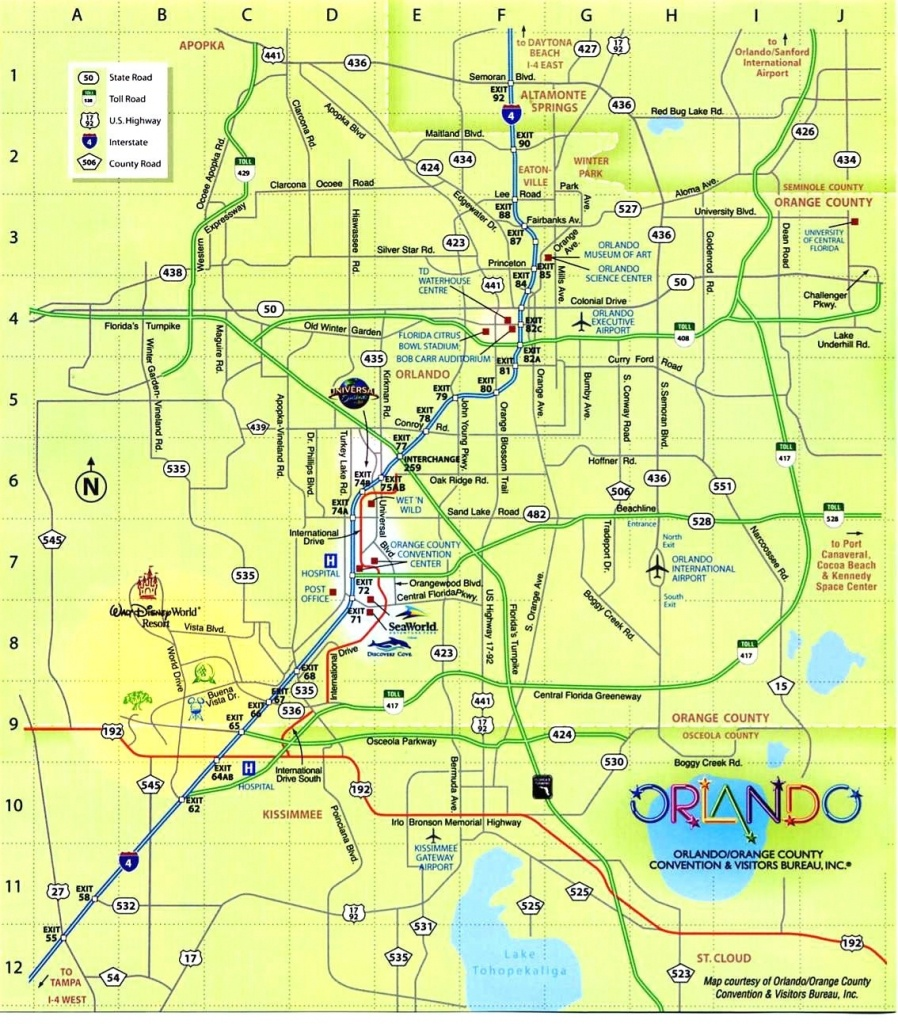 Download Map Usa Orlando Major Tourist Attractions Maps At And 6 16 - Orlando Florida Attractions Map